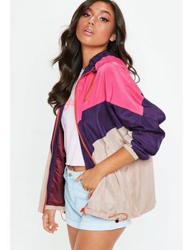 Pink Sporty Wind Breaker Jacket by Missguided