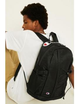 Champion Black Script Logo Backpack by Champion