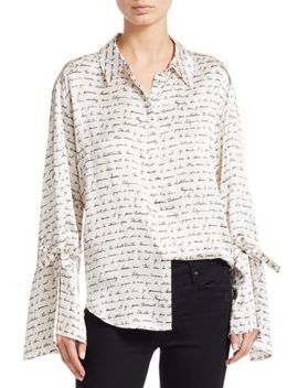 Elisia Love Letter Silk Blouse by Cinq à Sept