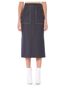 Pencil Midi Skirt With Pockets by Carolina Herrera
