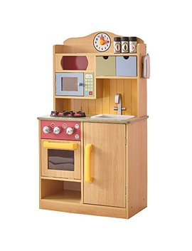 Teamson Kids   Little Chef Wooden Toy Play Kitchen With Accessories   Burlywood by Teamson Kids