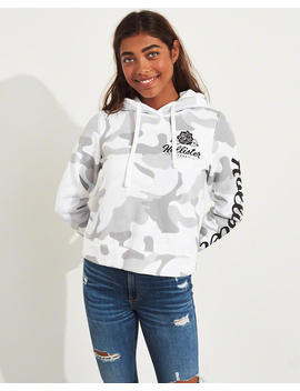 Camo Graphic Hoodie by Hollister
