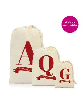 Personalised Merry Christmas Gift Letter Sack Bag Stocking Family Kids Sacks by Ebay Seller