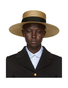 Gold Straw Hat by Gucci
