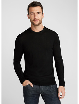 Merino Wool Crew Neck Sweater by Le 31