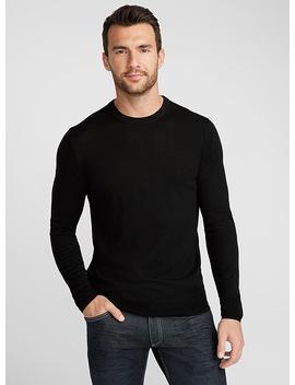 Merino Wool Crew Neck Sweater by Le 31