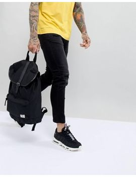 Burton Menswear Backpack With Front Pocket In Black by Burton Menswear London