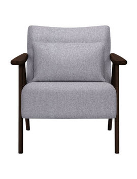 John Lewis & Partners Hendricks Accent Chair, John Lewis & Partners Saga Grey Fabric, Price Band A, Dark Legs by John Lewis & Partners