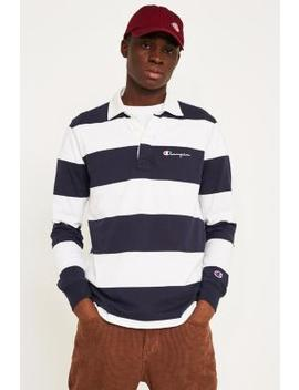 Champion X Uo Small Script Navy Rugby Shirt by Champion