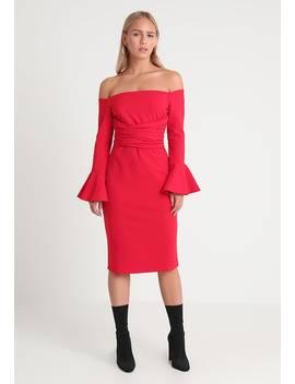 Bardot Bodycon Dress   Day Dress by Lost Ink Petite