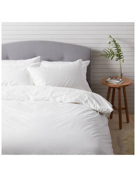 John Lewis & Partners Easy Care  200 Thread Count Polycotton Bedding, White by John Lewis & Partners