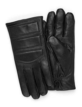 Padded Leather Gloves by Le 31