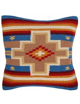 El Paso Designs Throw Pillow Covers 18 X 18  Hand Woven Wool In Southwest, Mexican, And Native American Styles  Hand Crafted Western Decorative Pillow Cases In Wool. (Beige Cross) by El Paso Designs