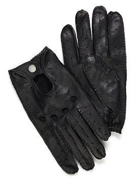 Topstitched Leather Driving Gloves by Le 31