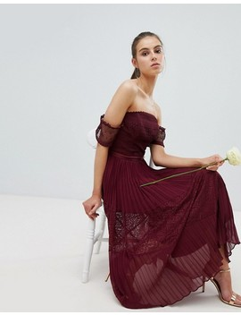 Asos Design Tall Premium Guipure Lace Paneled Midi Dress by Asos Tall