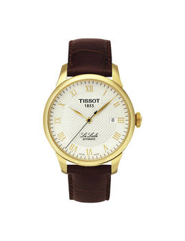 Tissot T41541373 Men's Le Locle Date Leather Strap Watch, Brown/Silver by Tissot