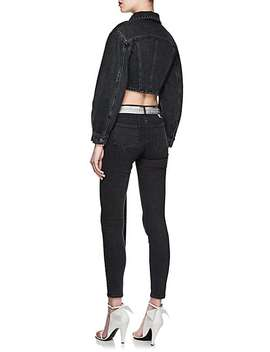 Buckle Tab Denim Crop Jacket by Off White C/O Virgil Abloh