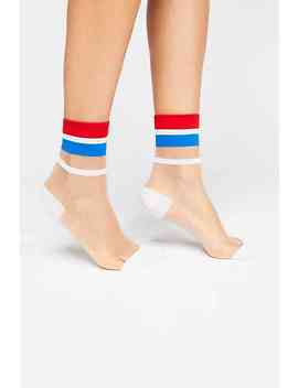 Strut Striped Sheer Sock by Free People
