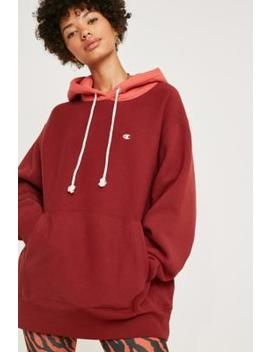 Champion X Uo Red Contrast Hoodie by Champion