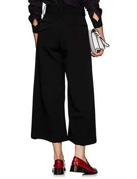 Asymmetric Faille Wide Leg Trousers by Noir Kei Ninomiya