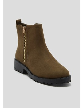 Wide Fit Zip Ankle Boots by Matalan