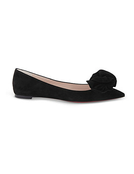 Anemosea Flat Veau Velours Pos by Christian Louboutin