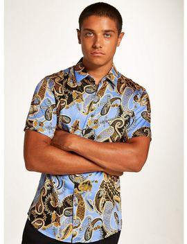 Premium Paisley Print Short Sleeve Shirt by Topman