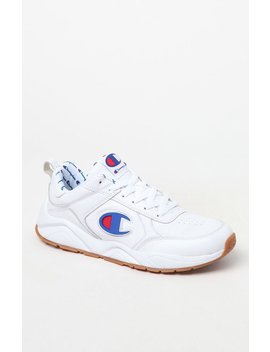 Champion 93 Eighteen White Leather Shoes by Pacsun