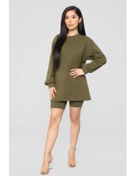 Paparazzi Short Set   Olive by Fashion Nova