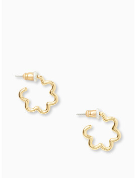 Scrunched Scallops Mini Hoops by Kate Spade