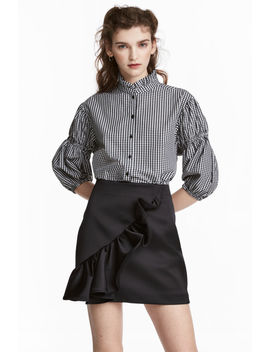 Frilled Satin Skirt by H&M