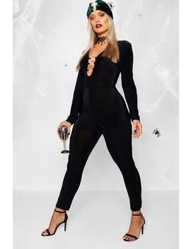 Plus Ring Front Halloween Unitard by Boohoo