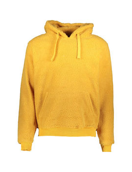 Yellow Fleece Hoodie by Brave Soul