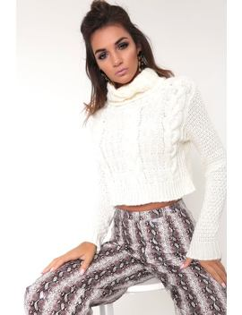 Cream Chunky Knit Cropped Jumper by I Saw It First