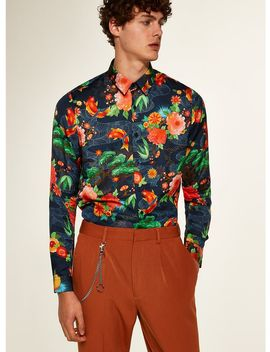 Premium Multi Floral Long Sleeve Shirt by Topman