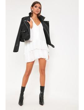 White Pleated Swing Dress by I Saw It First