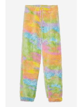 **Rainbow Fleece Joggers By Jaded London by Topshop