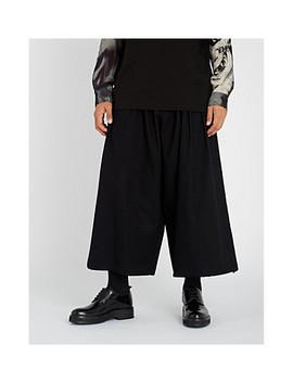 Drawstring Waist Relaxed Fit Cotton Gabardine Trousers by Yohji Yamamoto
