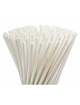 500 Pack Biodegradable White Paper Drinking Straws   Dye Free, Eco Friendly Straws   Bulk Paper Straws Also Great For Arts, Crafts, And Parties (White) by Dtc Sourcing