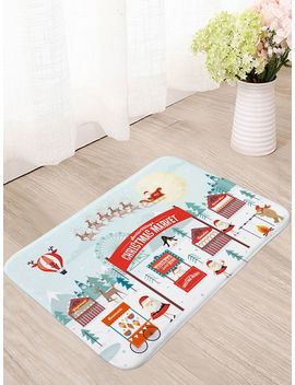 Christmas Santa Claus Print Floor Mat by Sheinside