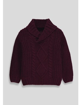 Boys Chenille Cable Knit Jumper (9mths 6yrs) by Matalan
