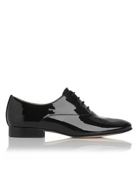 Isabelle Black Patent Leather Oxford by L.K.Bennett
