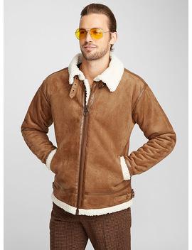 Faux Sheepskin Coat by Le 31