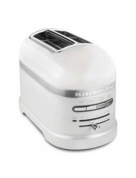 Kitchen Aid Kmt2203 Fp Pro Line Series Frosted Pearl White 2 Slice Automatic Toaster by Kitchen Aid
