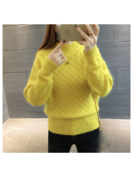 New Autumn Winter Korean Fashion Half A Turtleneck Loose Knitting Sweater Coat by Unbranded