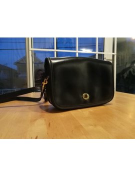 Vintage Coach Crossbody Bag Black Leather by Etsy