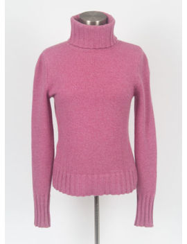 Ann Taylor 100 Percents Cashmere Turtleneck Sweater Fuschia Women's Size Small by Ann Taylor