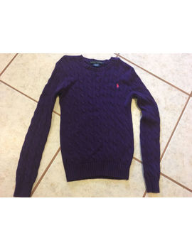 Ralph Lauren Women's Ladies Purple Cable Knit Crew Jumper/Sweater Size Xs by Lauren Ralph Lauren