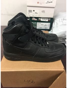Nike Air Force 1 High '07 Men's Black Sneakers Size 12 M Us 456 by Nike