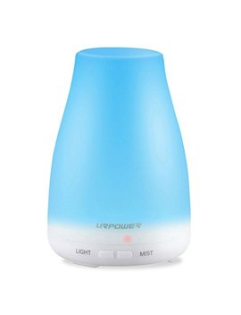 Urpower 2nd Version Essential Oil Diffuser Aroma Essential Oil Cool Mist Humidifier With Adjustable Mist Mode,Waterless Auto Shut Off And 7 Color Led Lights Changing... by Urpower